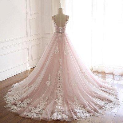 Sexy Spaghetti-Strap Flower Lace Appliques Prom Dress UKes UK Ball Gown Ruffle Crystal Sleeveless Evening Dress UKes UK_4