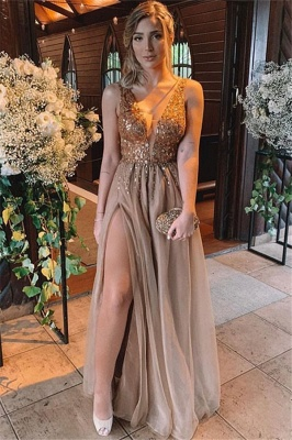 Sexy Halter Ruffles Prom Dress UKes UK Sleeveless Side Slit Elegant Evening Dress UKes UK Sexy_2
