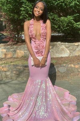 Halter Lace Appliques Sequins Prom Dress UKes UK Ruffles Open Back Mermaid Sleeveless Evening Dress UKes UK_1