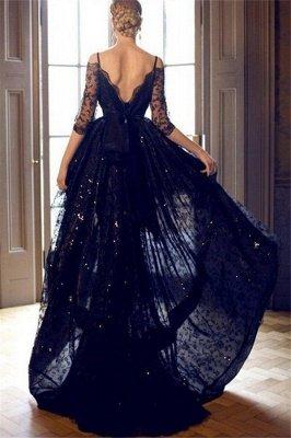 Red Spaghetti Strap Lace Up Prom Dress UKes UK Tulle Sleeveless  Side Slit Evening Dress UKes UK Sexy_2