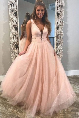 Sexy Sequins Riboons Straps Prom Dress UKes UK Ball Gown Sleeveless Evening Dress UKes UK with Beads_2