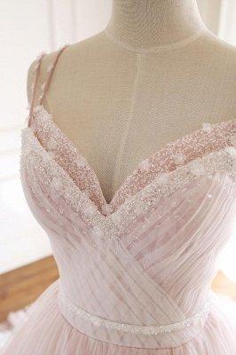 Sexy Spaghetti-Strap Flower Lace Appliques Prom Dress UKes UK Ball Gown Ruffle Crystal Sleeveless Evening Dress UKes UK_7