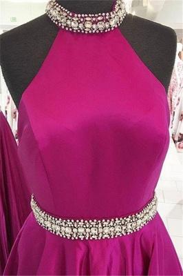 Crystal Halter Prom Dress UKes UK Ribbon Sleeveless Evening Dress UKes UK_4