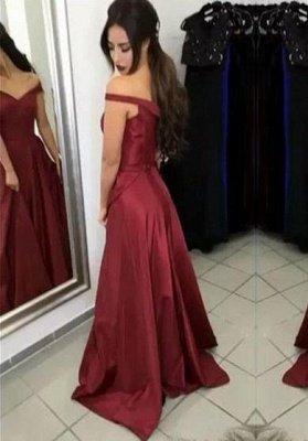 Ruffles Off-the-Shoulder Prom Dress UKes UK Simple Sleeveless Evening Dress UKes UK_2