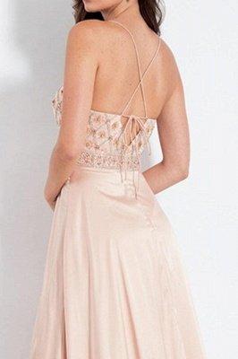 Sexy Spaghetti-Strap Crystal Prom Dress UKes UK Side slit Sleeveless Evening Dress UKes UK with  Beads_2