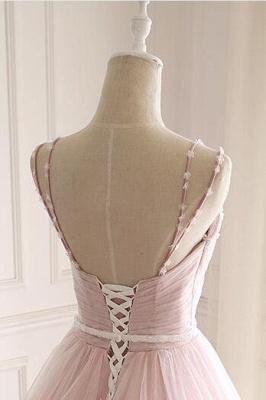 Sexy Spaghetti-Strap Flower Lace Appliques Prom Dress UKes UK Ball Gown Ruffle Crystal Sleeveless Evening Dress UKes UK_10