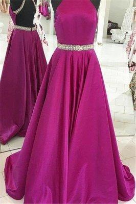 Crystal Halter Prom Dress UKes UK Ribbon Sleeveless Evening Dress UKes UK_2
