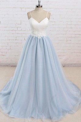 Sexy Spaghetti-Strap Lace Appliques Prom Dress UKes UK A-Line Sleeveless Evening Dress UKes UK_1