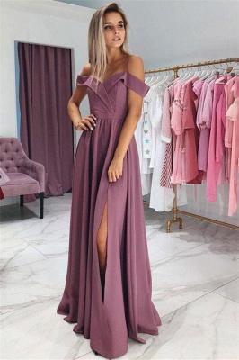 Sexy Ruffles Spaghetti-Strap Prom Dress UKes UK Side slit Sleeveless Evening Dress UKes UK_1