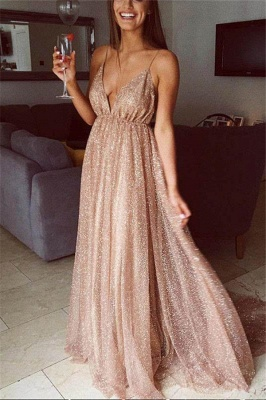 Squins Spaghetti-Strap Prom Dress UKes UK Backless Sleeveless Evening Dress UKes UK_1