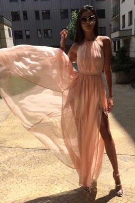 Sexy Sheer Halter Ribbons Prom Dress UKes UK Side slit Overskirt Bowknot Sleeveless Evening Dress UKes UK_4