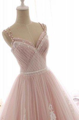 Sexy Spaghetti-Strap Flower Lace Appliques Prom Dress UKes UK Ball Gown Ruffle Crystal Sleeveless Evening Dress UKes UK_6
