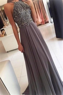Sexy Halter Lace Appliques Crystal Prom Dress UKes UK Sleeveless Sexy Evening Dress UKes UK with Beads_1