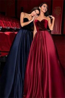 Sexy Sweetheart Ruffles Prom Dress UKes UK Popular Sleeveless Elegant Evening Dress UKes UK Sexy_1