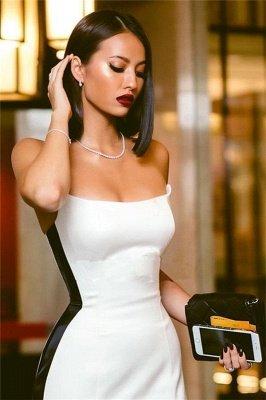 Elegant Strapless Side Slit Evening Dress UKes UK Sexy Online | Black White Sleeveless Sexy Formal Party Dress UK_4