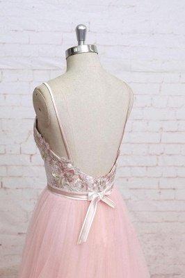 Sexy Lace Appliques Spaghetti-Strap  Prom Dress UKes UK Sheer Backless Bowknot Sleeveless Evening Dress UKes UK_4