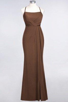 Elegant Mermaid spandex Lace Spaghetti-Straps Sleeveless Long Bridesmaid Dress UK with Ruffle_11