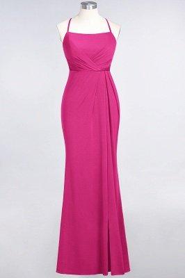 Elegant Mermaid spandex Lace Spaghetti-Straps Sleeveless Long Bridesmaid Dress UK with Ruffle_8