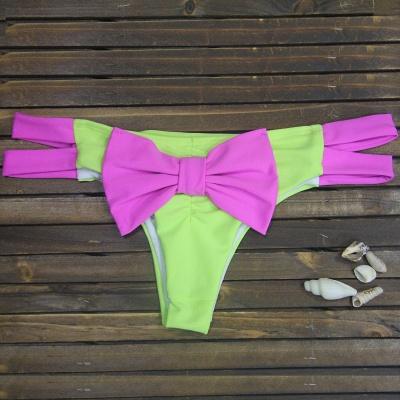 Bowknot Swims Brief Sexy Bikini Bottom_2