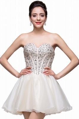 Gorgeous Sweetheart Crystal Short Homecoming Dress UK Tulle_1