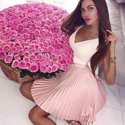 Straps V-Neck Ruffles Formal Dresses | Cheap Sexy Short Evening Dress_3