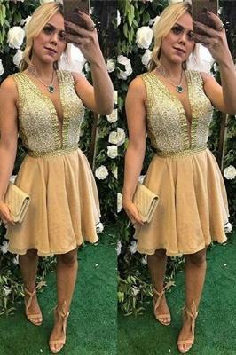 Sexy V-Neck Short Prom Dress UK | Homecoming Dress UK_2