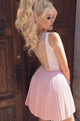 Straps V-Neck Ruffles Formal Dresses | Cheap Sexy Short Evening Dress_2