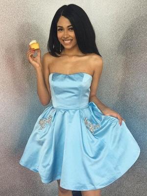 Strapless Sweetheart Beading Homecoming Dress_2