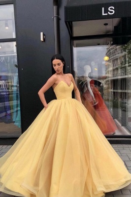 Sexy Ball Gown Strapless Strapless Floor-Length Prom Dress UK_1