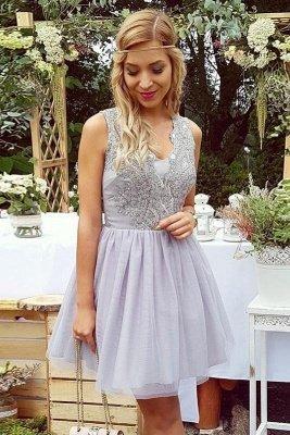 Lace Straps Short Homgcoming Dress_1