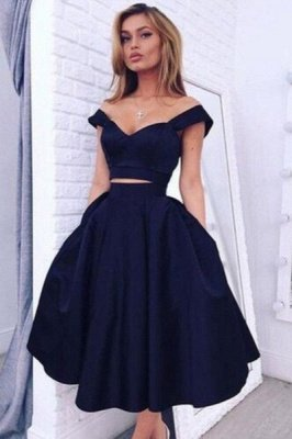 Luxury Two pieces Off-the-shoulder Prom Dress UK Short Homecoming Dress UK BA3609_2