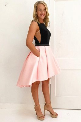 Chic Hi-Lo Jewel Sleeveless Homecoming Dress_1