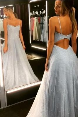 Sparkly Backless Dress UK Tulle Floor Length Prom Dress UKes UK UK | Sexy Long Evening Dress UKes UK on Sale_2
