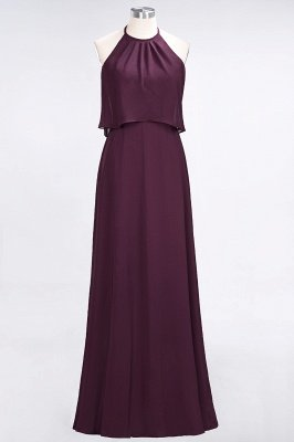 Sexy A-line Flowy Jewel Sleeveless Floor-Length Bridesmaid Dress UK UK_1