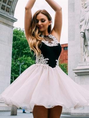 Jewel Appliques Sleeveless Mini Homecoming Dress_2