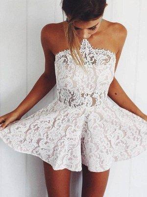 Cheap Lace Sleeveless Sexy Short Summer Party Dress for Beach_1