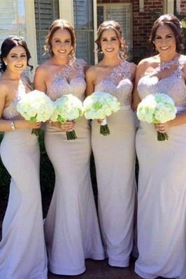 Sexy One Shoulder Lace Bridesmaid Dress UK Long Wedding Reception Dress UK_2