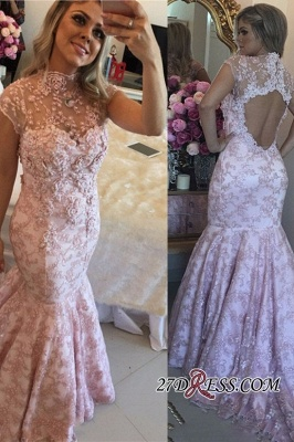 Pink lace evening Dress UK, mermaid prom Dress UK_1