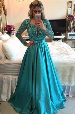 Luxury Long Sleeve Evening Dress UK | 2019 Beadings Prom Dress UK_2