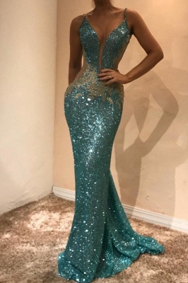 Gorgeous Sleeveless Sequins Evening Dress UK | Mermaid Prom Dress UK on Sale BA9598_2