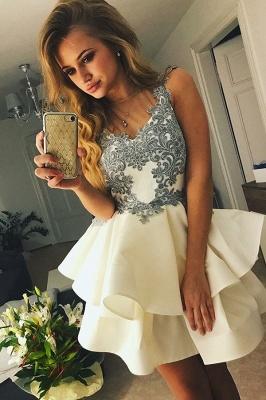 Lovely Sleeveless Short Prom Dress UK | Homecoming Dress UK With Appliques_2