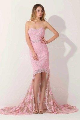 Luxury Sweetheart Short Prom Dress UK Lace Appliques Hi-Lo_1
