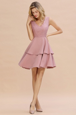 Cheap Homecoming Dresses with Ruffles Skirt | Sexy Short Evening Dresses UK_15