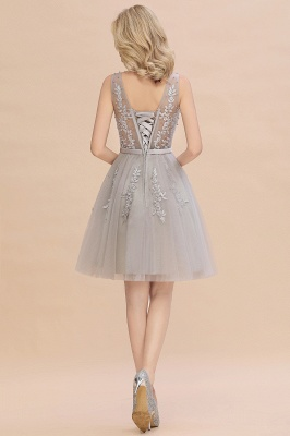 V-neck Lace Homecoming Dresses with Appliques | Cheap Short Party Dresses UK Online_15