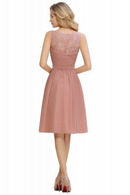 Lace Short Homecoming Dresses with Belt |  Sleeveless  Pink Cheap Party Dress UK_20