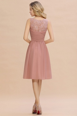 Lace Short Homecoming Dresses with Belt |  Sleeveless  Pink Cheap Party Dress UK_10