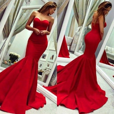 Red Sweetheart Open Back Sexy Evening Dresses UK | Mermaid Cheap Prom Dress Cheap Online_3