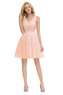 V-neck Lace Homecoming Dresses with Appliques | Cheap Short Party Dresses UK Online_28