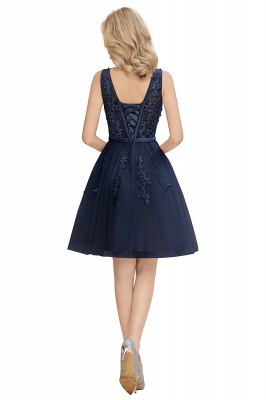 V-neck Lace Homecoming Dresses with Appliques | Cheap Short Party Dresses UK Online_17