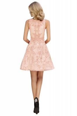 Knee Length Lace Appliques Homecoming Dresses | Burgundy Short Evening Dresses UK_16